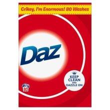 Daz Regular Washing Laundry Powder Cleaning Whitening Detergent, 5.2kg 80 Washes
