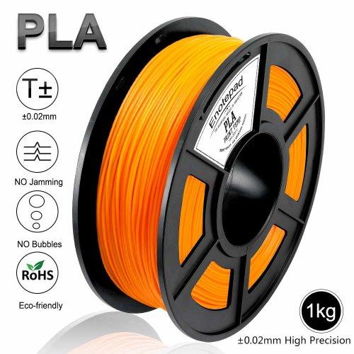 PLA 3D Printer Filament, Dimensional Accuracy +/- 0.02 mm, 1kg/Spool,1.75 mm,Eco-friendly Filament Suitable for 3D Printer/3D Print Pen (Orange)