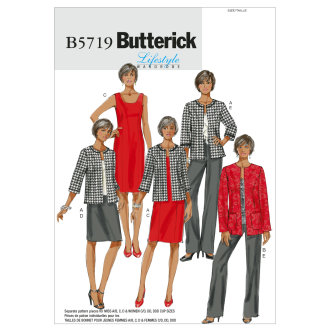 Misses'/Women's Jacket, Dress, Skirt and Pants-B5 (8-10-12-14-16) -*SEWING PATTERN*