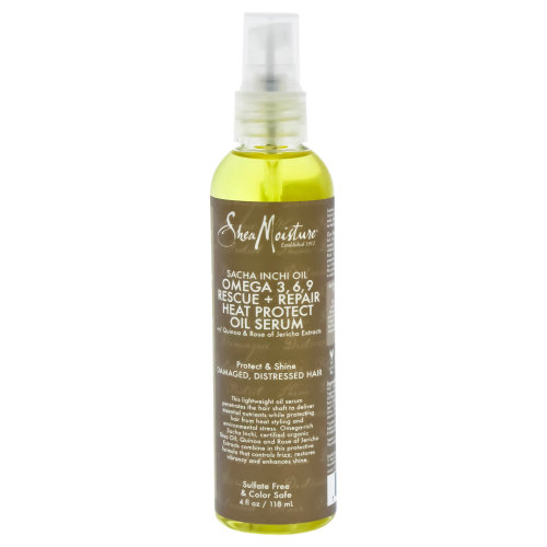 Sacha Inchi Oil Omega-3-6-9 Rescue & Repair Heat Protect Serum by Shea Moisture for Unisex - 4 oz Serum