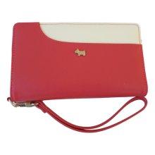 RADLEY 'Pocket Bag' Pink/Red Leather Bifold Zip Around Purse