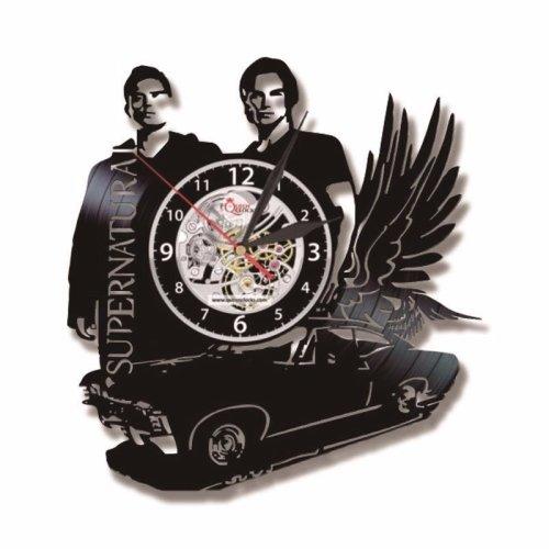 Flying Car Shape Supernatural Theme LED Vinyl Record Wall Clock