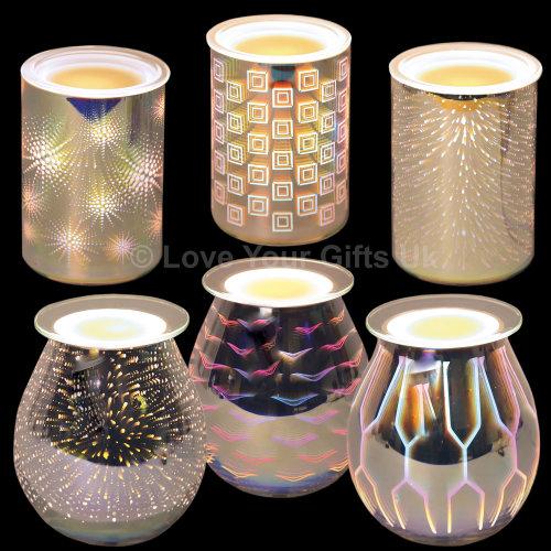 3D Electric Wax Melt Burner | Wax Melt Glass Candle