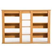 Homcom Wall-Mounted Storage Shelf - Natural Wood Colour