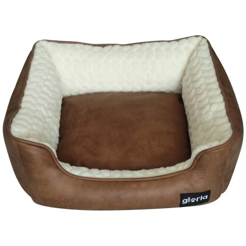 Gloria Rectangle Oregn Leather Dog Bed