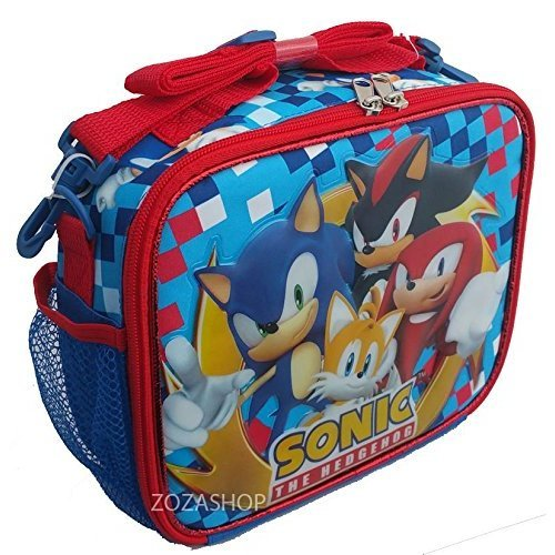 Lunch Bag - Sonic the Hedghog - Team w/Shadow Knuckles Tails Red/Blue New 136295
