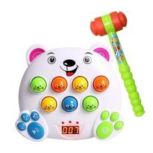 Playing HItting Hamster Inspire Kids Brain and Hands Development, 22*25*7cm/D