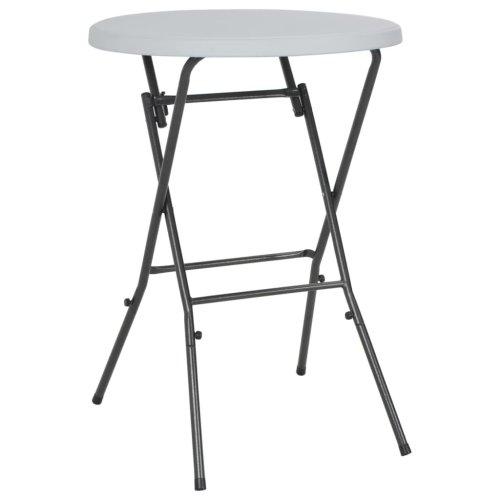 vidaXL Folding Bar Table HDPE 80x110 cm White