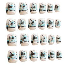 24 Pcs Fashion Nails Stickers Beautiful Nail Decorations False Nails Tips [C]