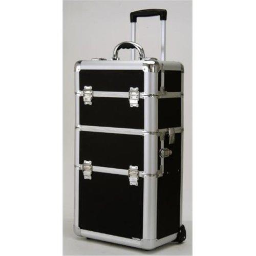 TZ Case AB-308T GGS Wheeled Beauty Organizer, Gold Stripe