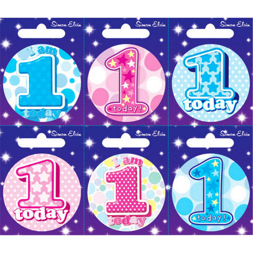 Simon Elvin Various Ages (1-17) Small Badges (Pack Of 6)