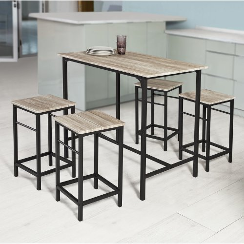 So Ogt11 N 1 Bar Table And 4 Stools Kitchen Breakfast