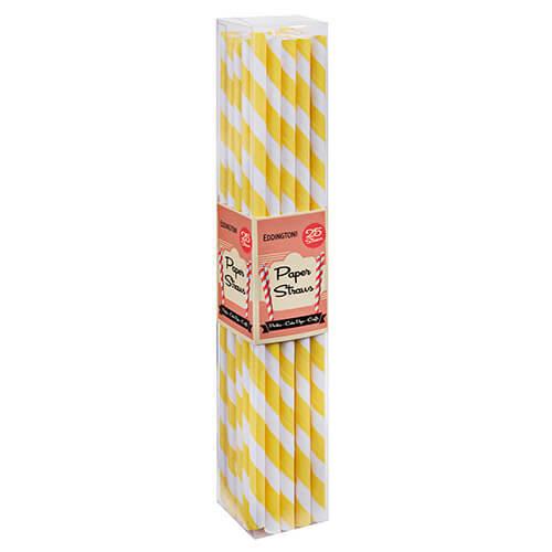 Eddingtons Paper Straws Yellow 25 Pack