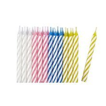 Assorted Stripe Candles - /24