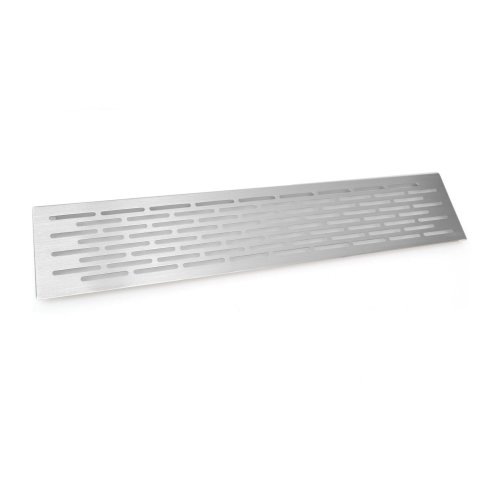 Brushed Chrome Vent Grill Kitchen Plinth / Worktop Heat  500 x 100 mm