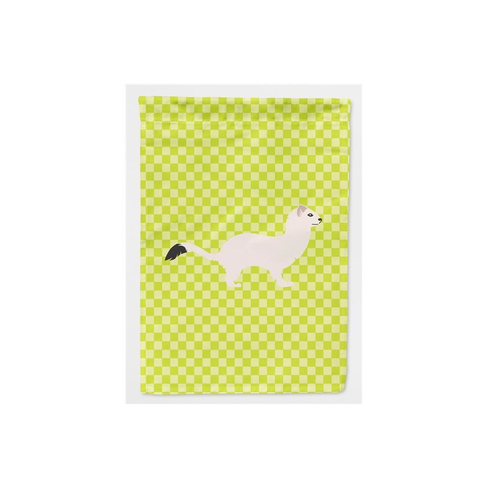 Carolines Treasures BB7698CHF Stoat Short-tailed Weasel Green Flag Canvas House