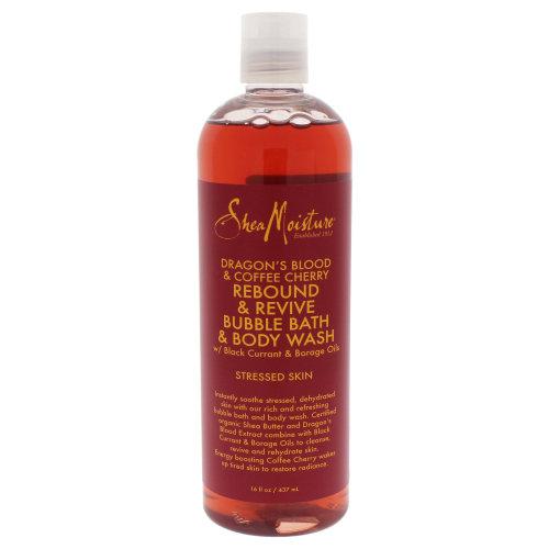 Shea Moisture Dragons Blood & Caffe Cherry Rebound & Revive Bubble Bath & Body Wash - 16 oz Bubble Bath & Body Wash