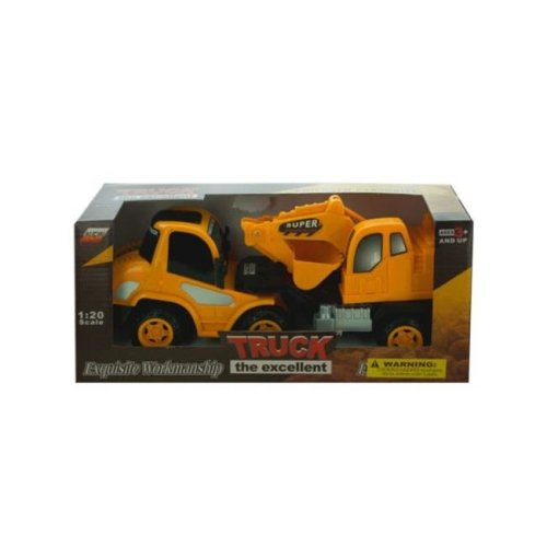 Kole Imports KL252-6 11.5 x 3.5 in. Friction Powered Toy Construction Truck, Pack of 6