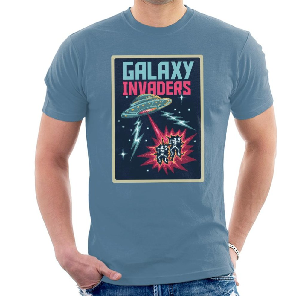 a245e9887 Retro Pixel Galaxy Invaders Men's T-Shirt on OnBuy