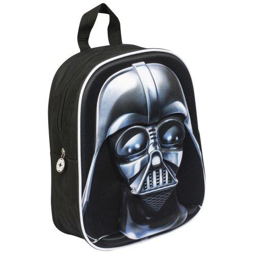 Children Back Pack Kids School Travelling Bag Star Wars Darth Vader 3D Image