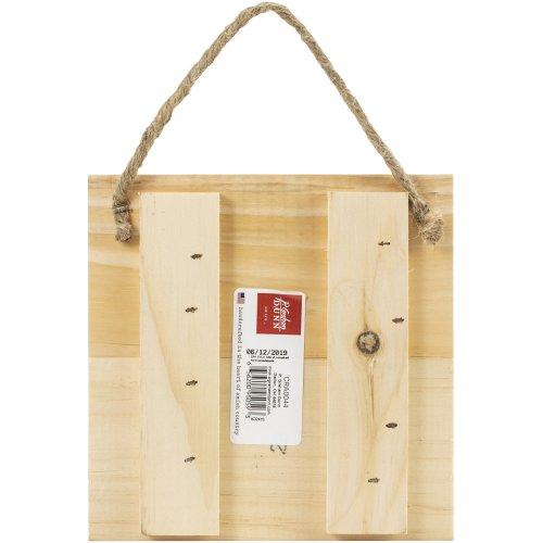 "Craft Decor Wood Sign W/Twine-7""X7""X.65"""