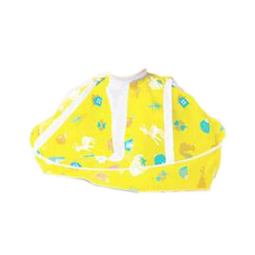 Cartoon Child Kid Hair Cutting Cape Baby Styling Salon Waterproof Cloak, Yellow