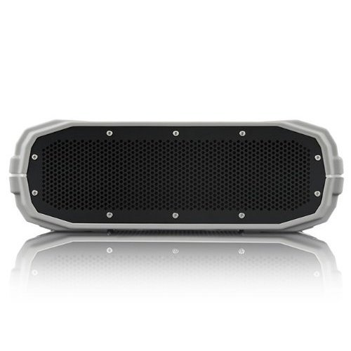 BRAVEN BRV X Portable Wireless Bluetooth Speaker 12 Hour Playtime Waterproof Built In 5200 mAh Power Bank Charger Gray