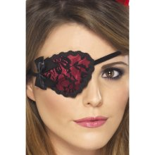 Red Ladies Pirate Eye Patch