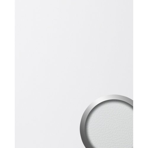 WallFace 13467 LEATHER Wall panel self-adhesive Leather design white 2.6 sqm