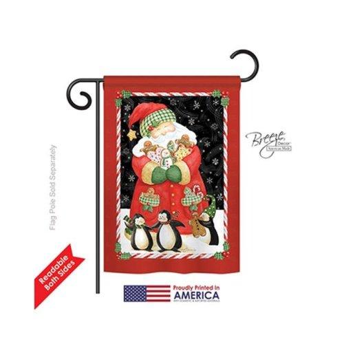 Breeze Decor 64105 Christmas Santa & Cookies 2-Sided Impression Garden Flag - 13 x 18.5 in.