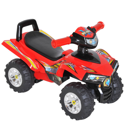 HOMCOM Kids Children Ride-on Toy Off Road Style Quad Bike Racing Car 4 Wheels Horn Music Red