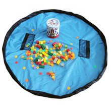 Baby Kids Play Floor Mat Toy Storage Bag  Quickly Easily Folds Up, Sky Blue