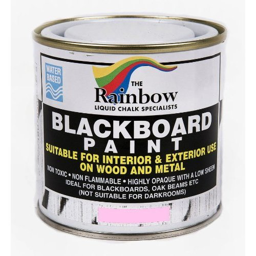 Pink Chalkboard Paint - 250ml Ideal to use with Liquid Chalk and Dry Chalk Sticks