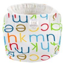 English Monogram Breathable Cotton Adjustable Washable Baby Diapers