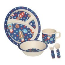 Eden 5Pc Kids Space Dinner Set