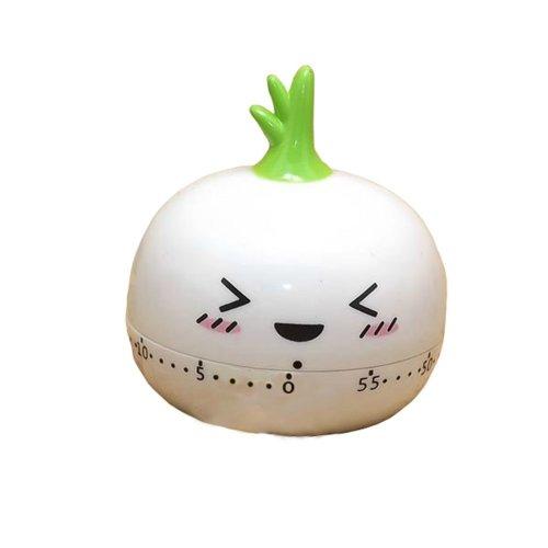 "[Garlic]2.8""Cute Vegetable Mechanical Movement Kitchen Timer/Reminder-60 Minutes"