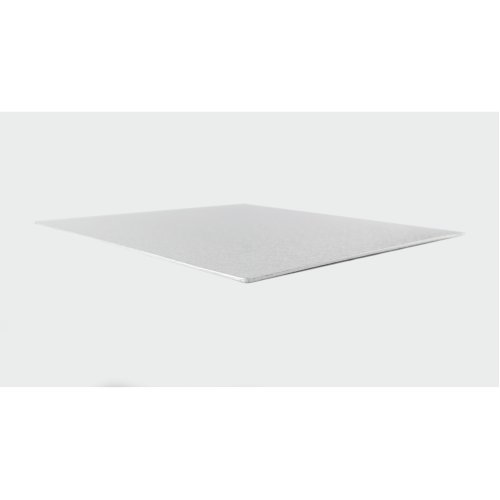 "8"" Thin Silver Square Cake Board 3mm Thick"