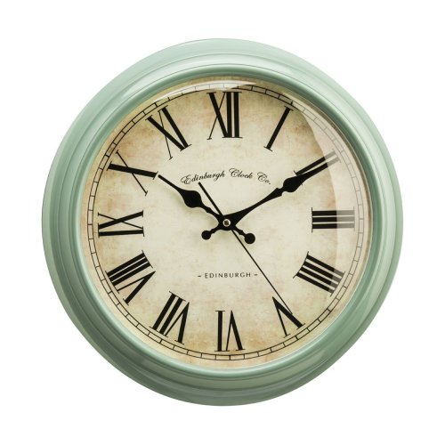 Traditional Vermont Wall Clock, Green