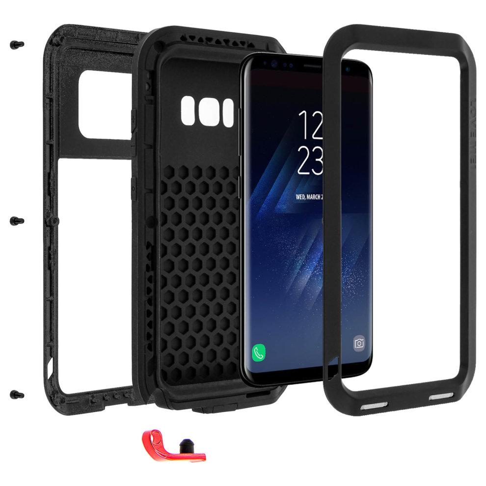online retailer b11db cf378 Love Mei powerful hybrid shockproof case for Samsung Galaxy S8 Plus - Black