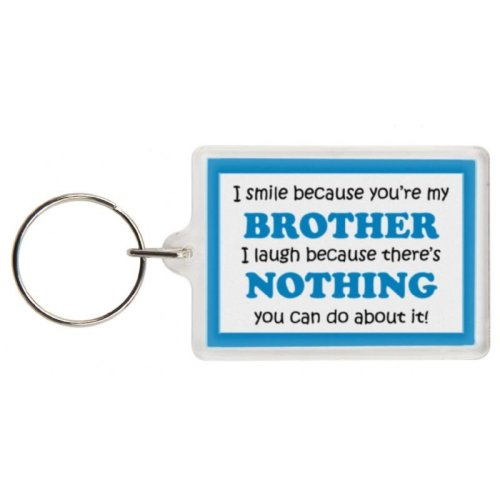 Funny Brother Gift Keyring - Excellent stocking filler, secret santa gift, joke keyring, keychain, Brother keyring Brother present gift for Brother