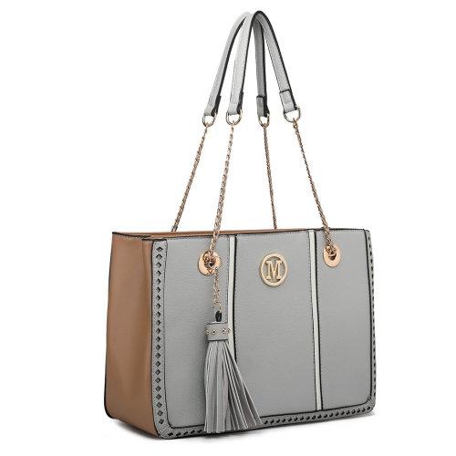 Miss Lulu Women Shoulder Bag Handbag PU Leather Tote