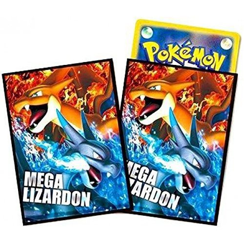 Japanese Pokemon Mega Lizardon Sleeves 32ct NEW