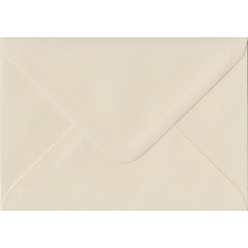 """Ivory Gummed 5""""x7"""" Coloured Ivory Envelopes. 130gsm FSC Sustainable Paper. 133mm x 184mm. Banker Style Envelope."""