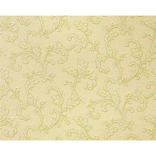 EDEM 927-37 deluxe embossed non-woven wallpaper flower fresco green-beige olive