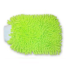 Superfine Fiber Chenille Glove Housework Gloves Cleaning Gloves GREEN