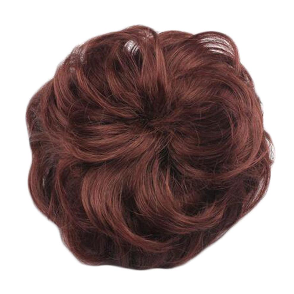 Womens Hair Donut Chignon Hair Piece Wig Hair Bun Extension Light