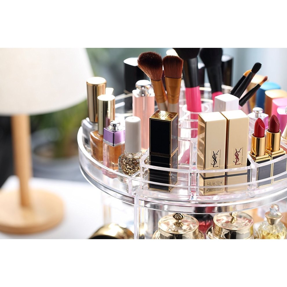 Makeup Organiser 360 Degree Rotating Adjule Jewelry And Cosmetic Display Stand 8 Layers Make