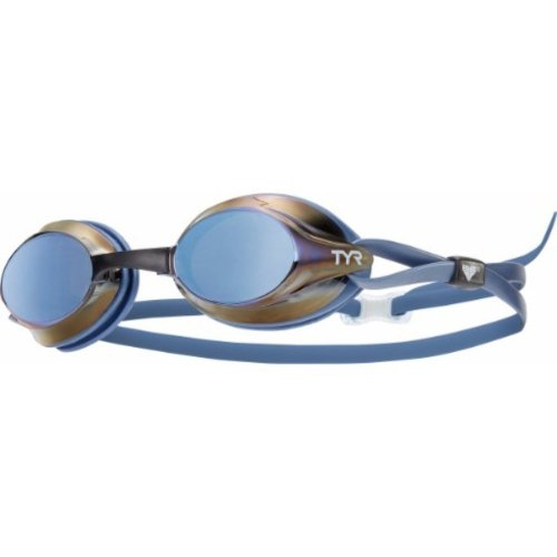 TYR Tracer Velocity Racing Swimming Goggles - Metallic Blue