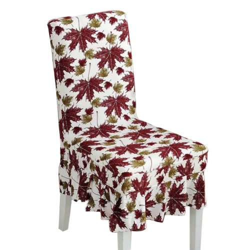 [Leaves-02] Stretch Dining Chair Slipcover Chair Cover Chair Protector
