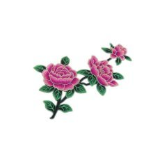 Chinese Style Large Fuchsia Peony Patch for Ancient Costume